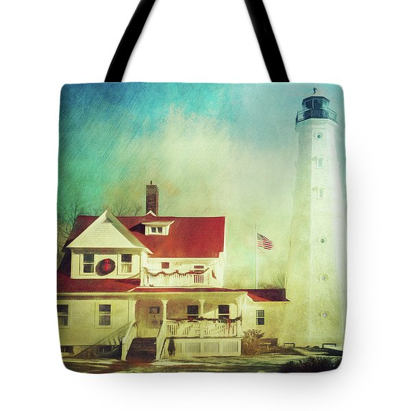North Point Lighthouse Keeper's Quarters Tote Bag