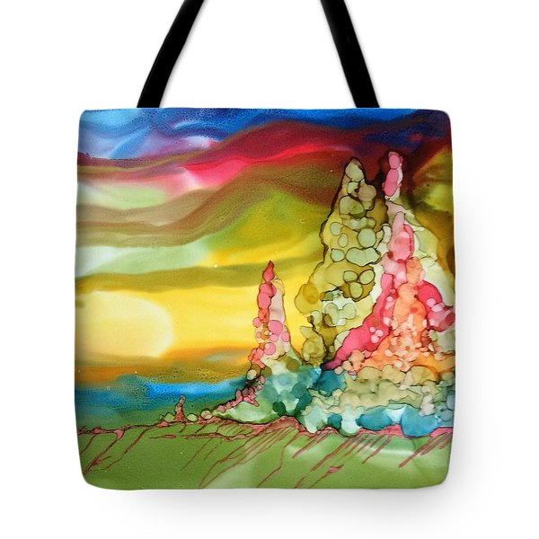 Tote Bag featuring the painting North Pole Christmas by Pat Purdy