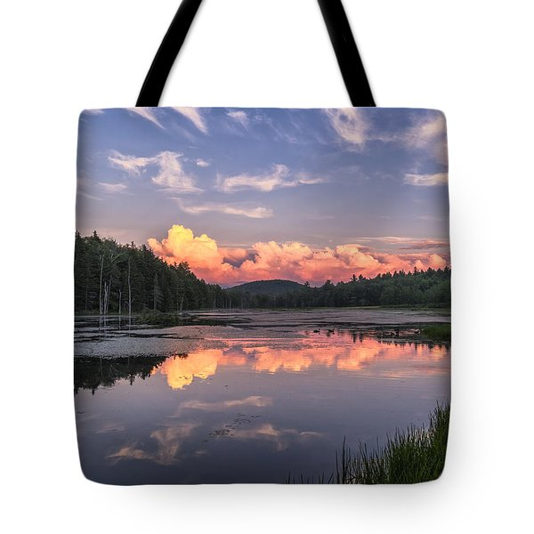 Tote Bag featuring the photograph North Pond Sunset by Tom Singleton