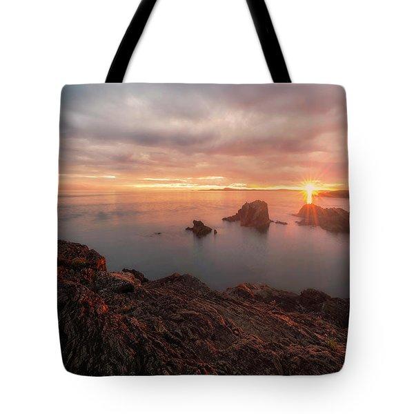 North Puget Sound Sunset Tote Bag