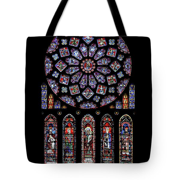 North Rose Window Of Chartres Cathedral Tote Bag