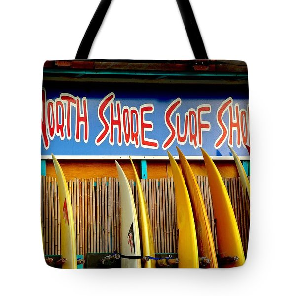 Tote Bag featuring the photograph North Shore Surf Shop 2 by Jim Albritton
