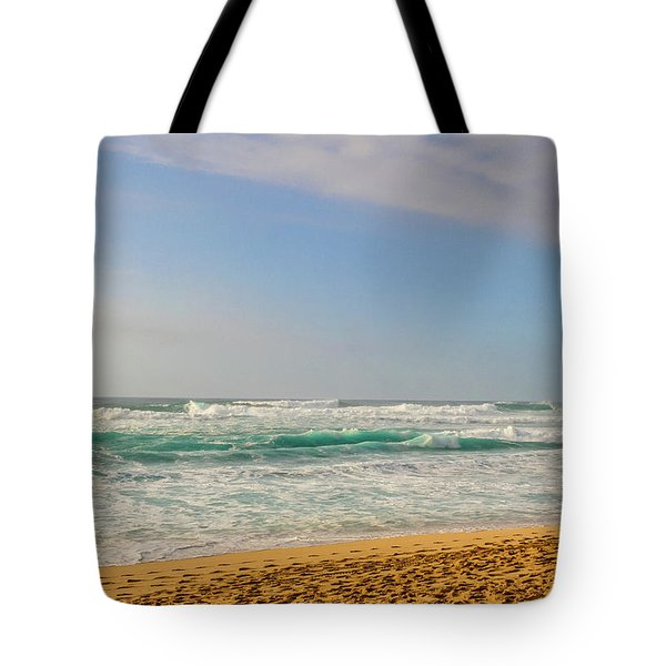 North Shore Waves In The Late Afternoon Sun Tote Bag