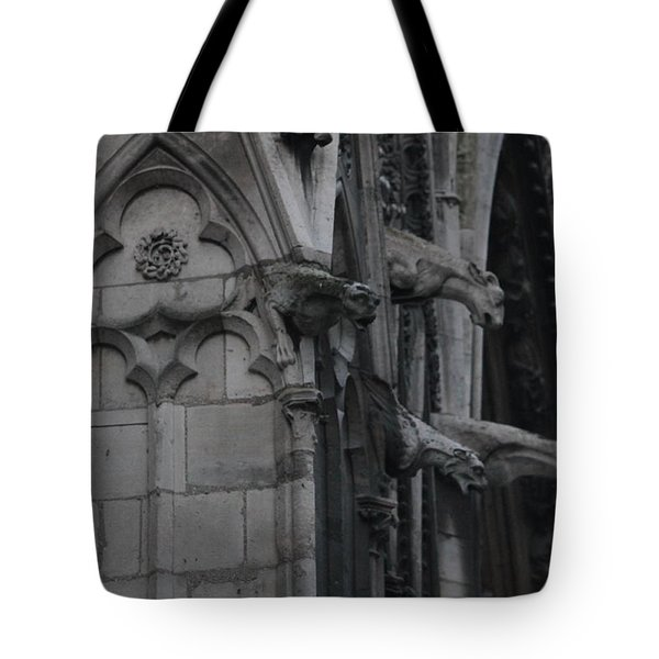 North Side Notre Dame Cathedral Tote Bag by Christopher Kirby