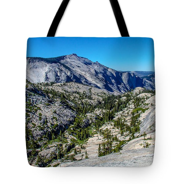 North Side Of Half Dome Valley Tote Bag by Brian Williamson