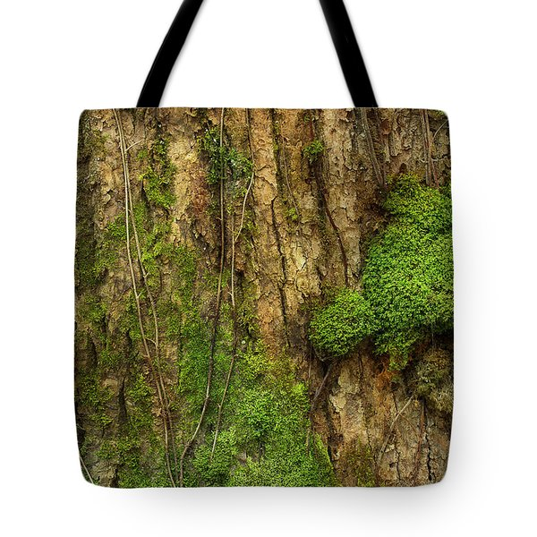 Tote Bag featuring the photograph North Side Of The Tree by Mike Eingle
