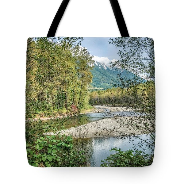 North Stilliguamish River View Tote Bag