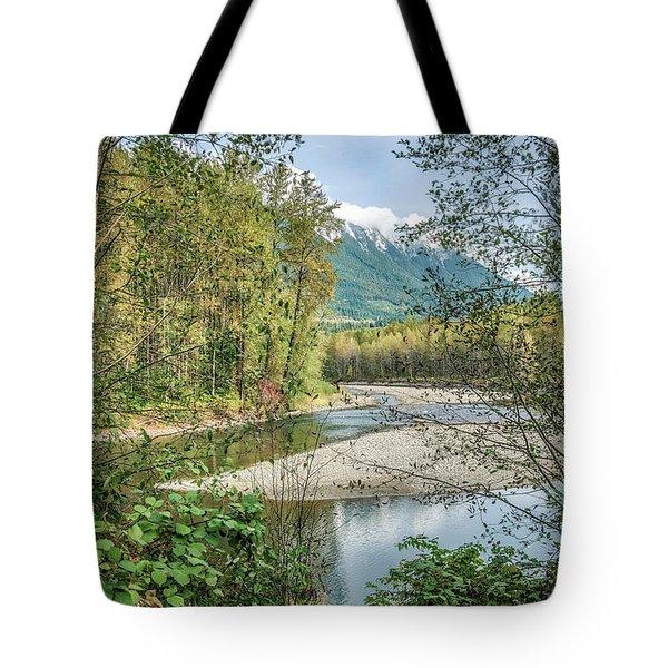 North Stilliguamish River View Tote Bag