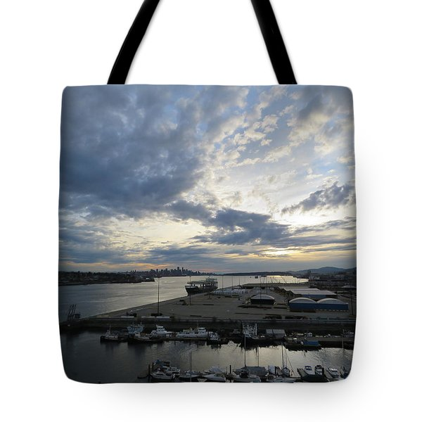 North Vancouver And Vancouver Tote Bag