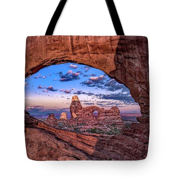 North Window At Sunrise Tote Bag
