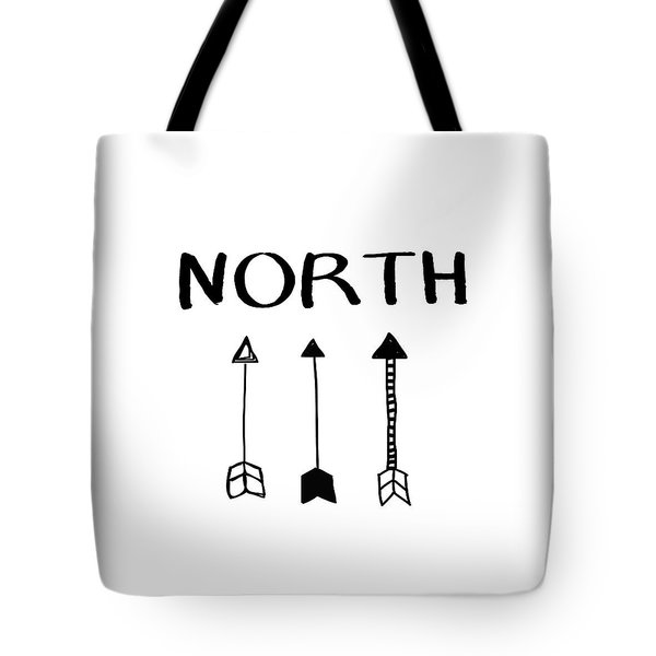 North With Arrows- Art By Linda Woods Tote Bag