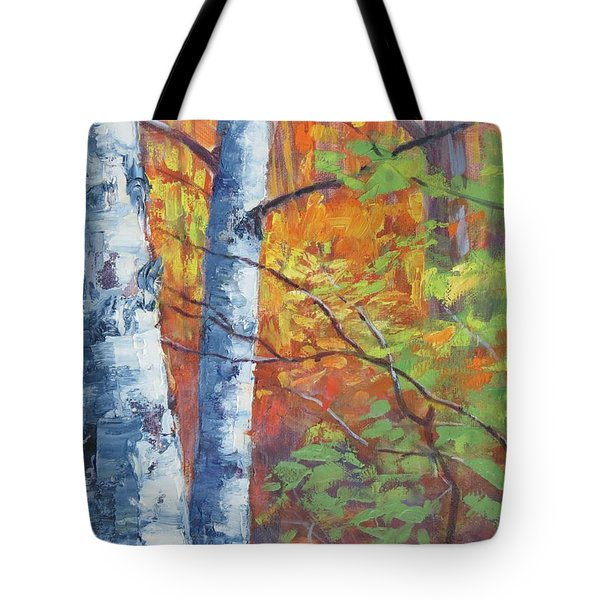North Woods Birch Tote Bag