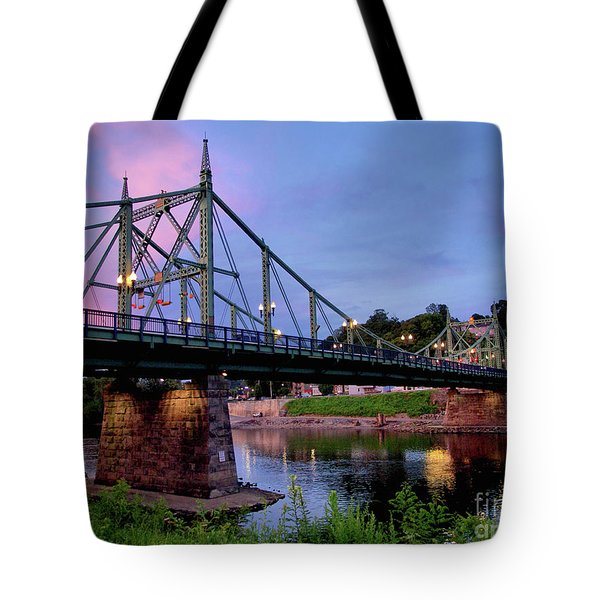 Northampton Street Bridge At Sunset Tote Bag