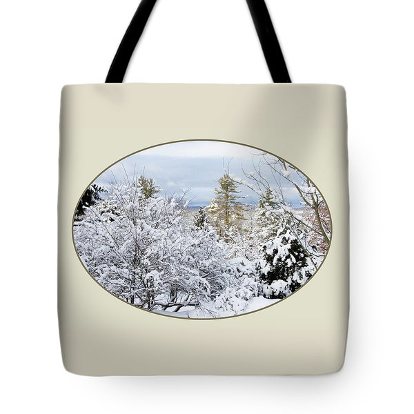 northeast USA photography button Tote Bag