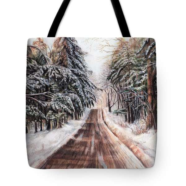Northeast Winter Tote Bag by Shana Rowe Jackson