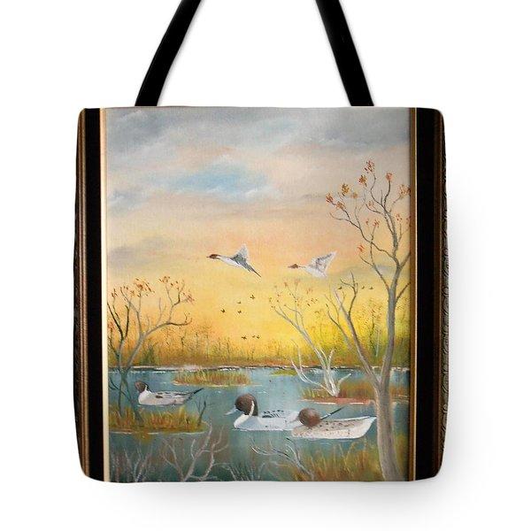 Northen Pintails Tote Bag by Al  Johannessen