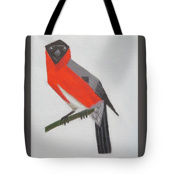 Northern Bullfinch Tote Bag