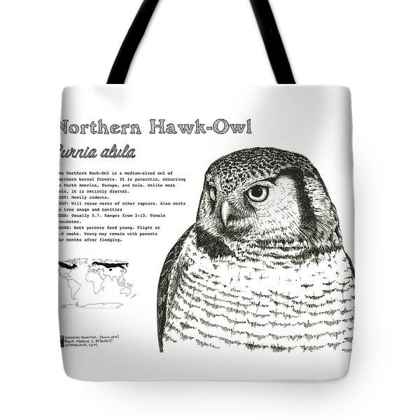 Northern Hawk-owl Infographic Poster Tote Bag