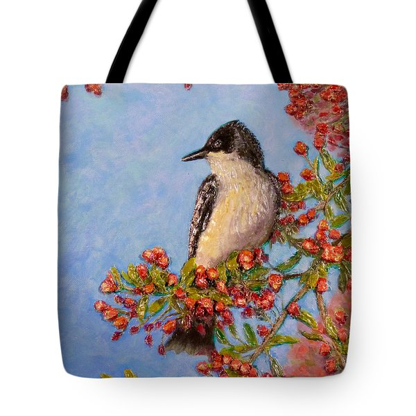Tote Bag featuring the painting Northern King Bird  by Joe Bergholm