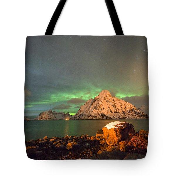 Spectacular Night In Lofoten 3 Tote Bag