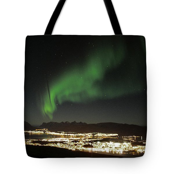 Northern Light In Troms, North Of Norway Tote Bag