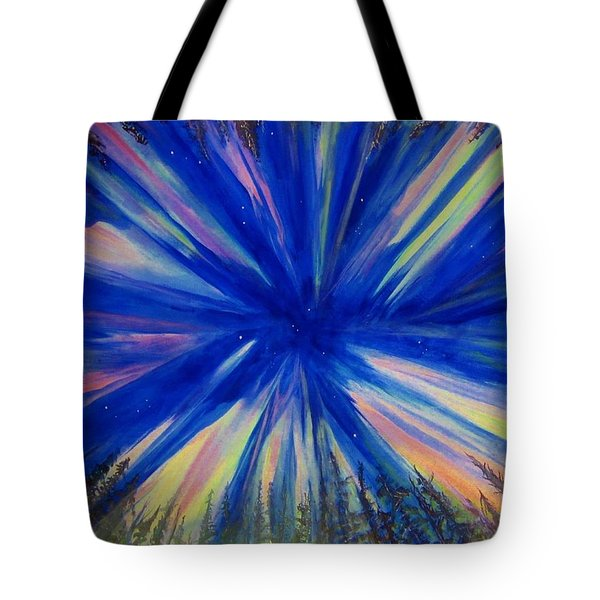 Northern Lights 3 Tote Bag by Cathy Long
