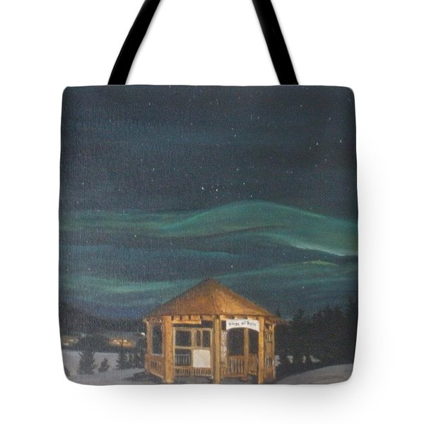 Tote Bag featuring the painting Northern Lights by Betty-Anne McDonald
