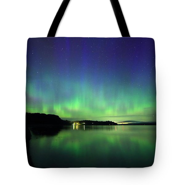 Northern Lights Dance Tote Bag by Barbara West