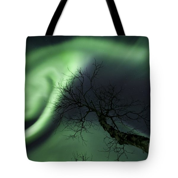 Northern Lights In The Arctic Tote Bag by Arild Heitmann