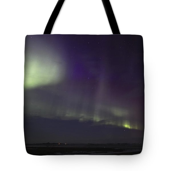 Northern Lights Near Yorkton Tote Bag