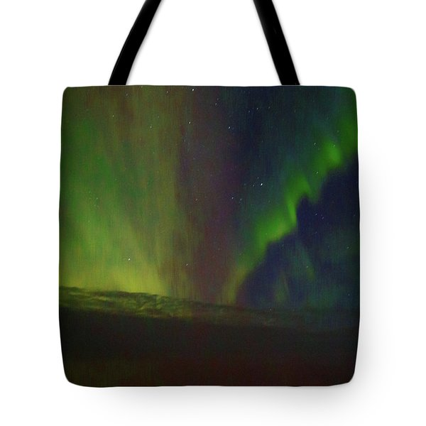 Northern Lights Or Auora Borealis Tote Bag by Allan Levin