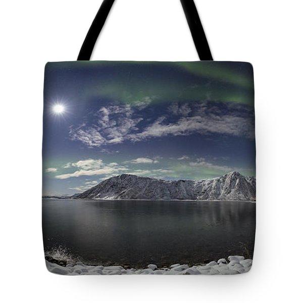 Northern Lights Panoramic II Tote Bag