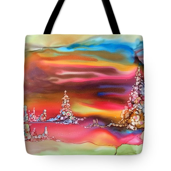 Tote Bag featuring the painting Northern Lights by Pat Purdy