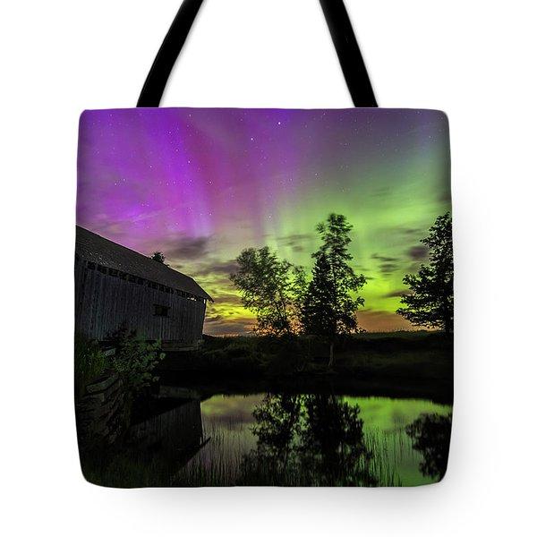 Northern Lights Reflection Tote Bag