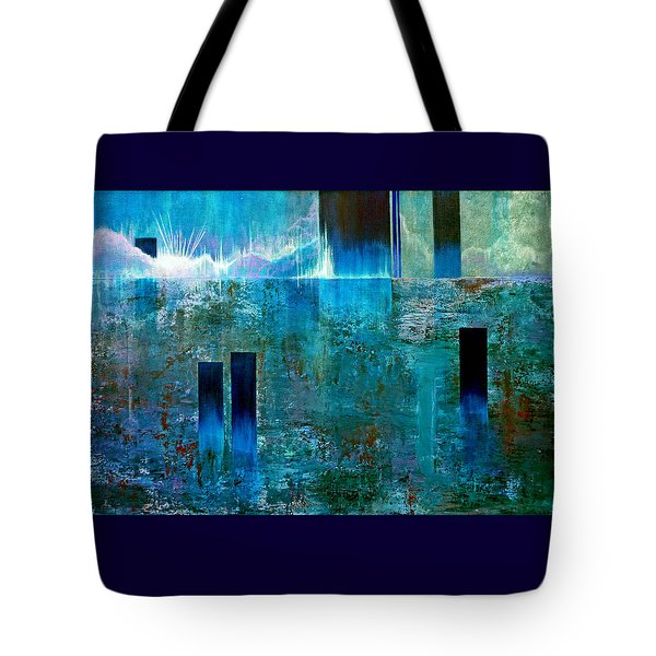 Northern Lights Rising Tote Bag