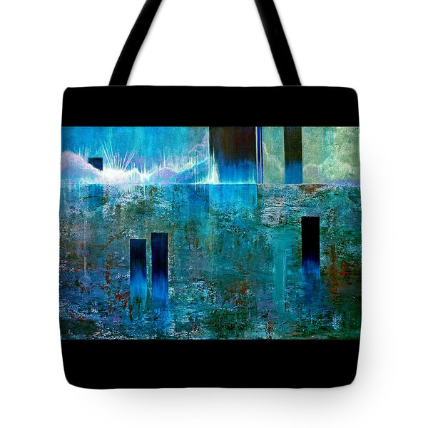 Tote Bag featuring the painting Northern Lights Rising by Jim Whalen