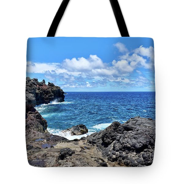 Northern Maui Rocky Coastline Tote Bag