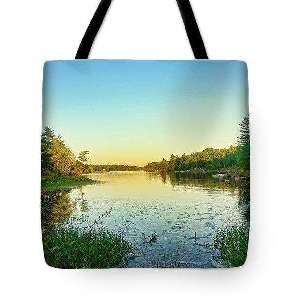 Northern Ontario Lake Tote Bag