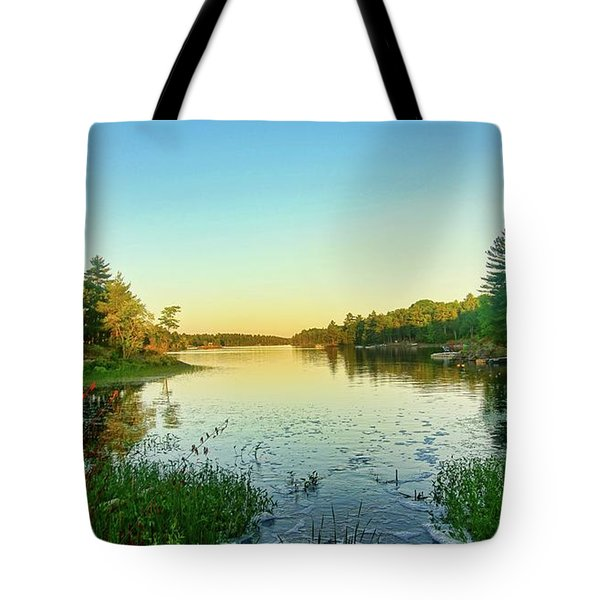 Northern Ontario Lake Tote Bag