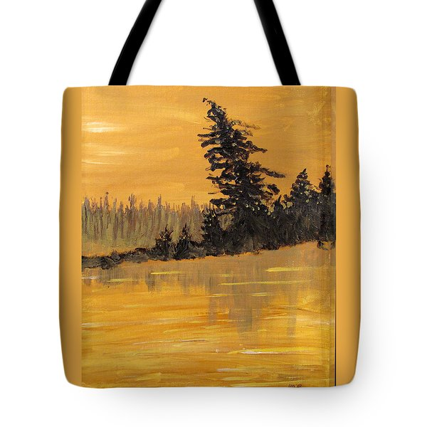 Tote Bag featuring the painting Northern Ontario Three by Ian  MacDonald