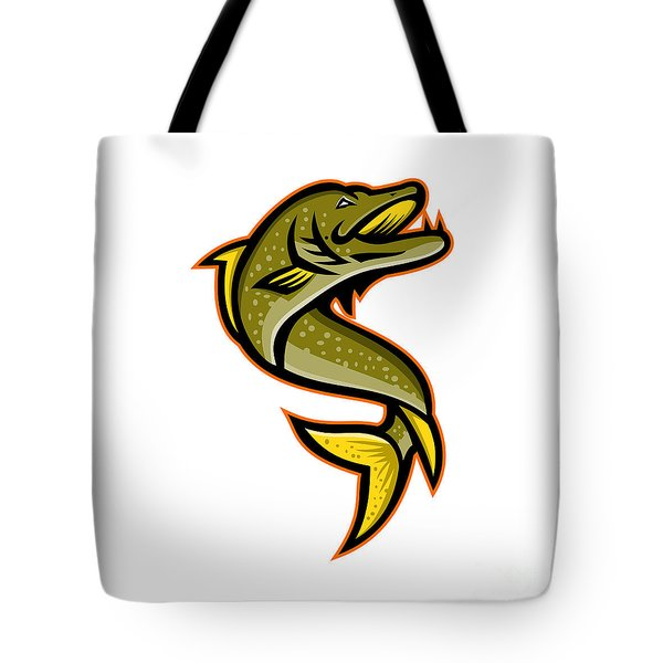 Northern Pike Sports Mascot Tote Bag