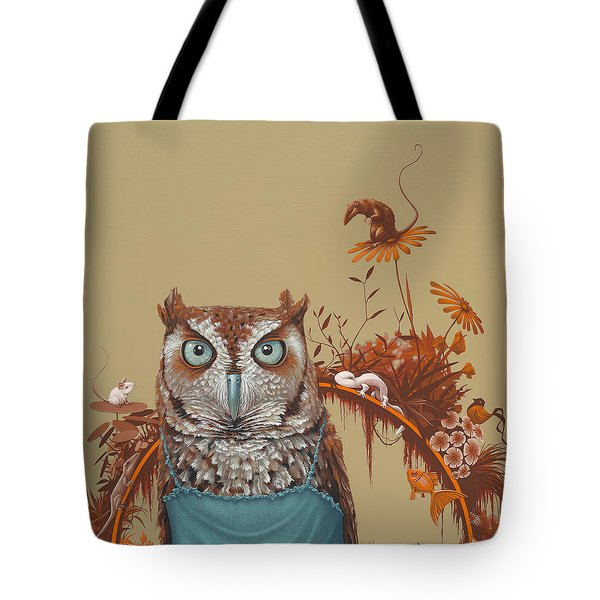 Northern Screech Owl Tote Bag by Jasper Oostland