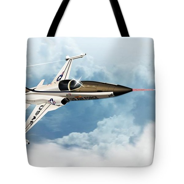 Tote Bag featuring the digital art Northrop F-5e Tiger 2 by John Wills