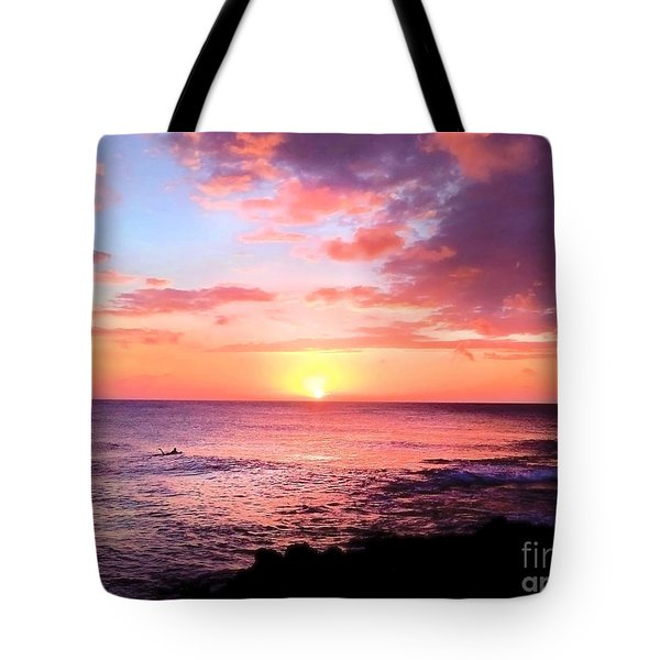 Northshore Sunset Tote Bag