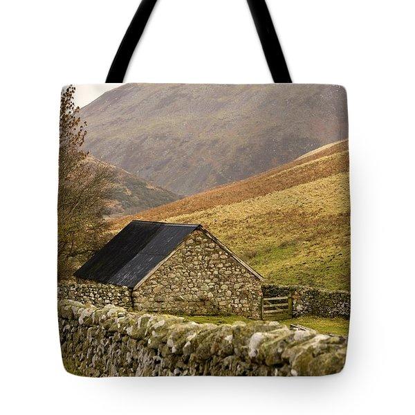 Northumberland, England Stone House Tote Bag by John Short