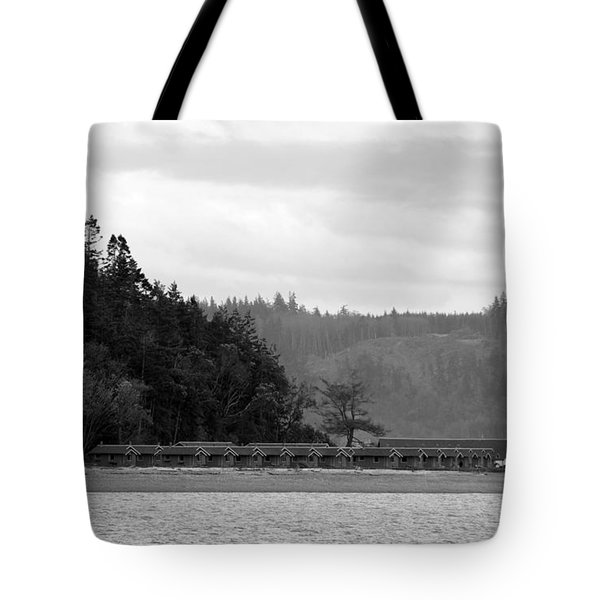Tote Bag featuring the photograph Northwest Beach Cabins by Erin Kohlenberg