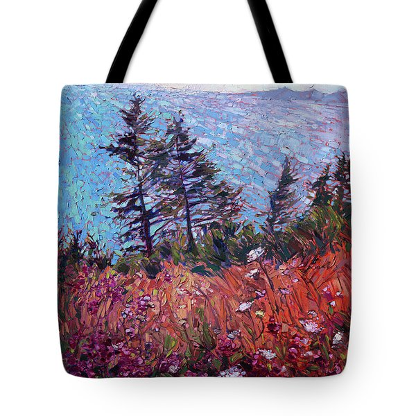 Tote Bag featuring the painting Northwest Blooms by Erin Hanson