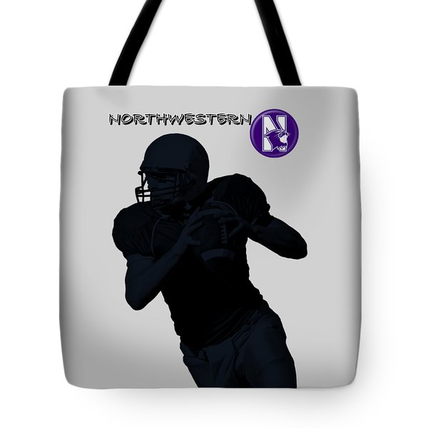 Northwestern Football Tote Bag by David Dehner