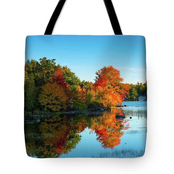 Northwood Lake Autumn Tote Bag