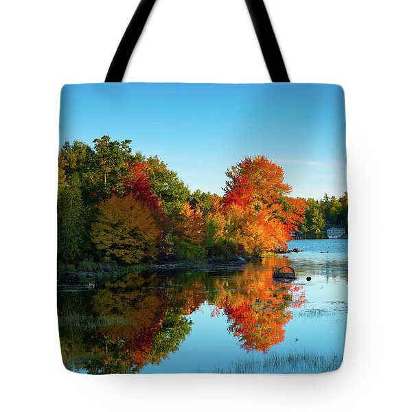 Northwood Lake Autumn Tote Bag